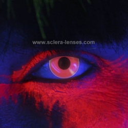 Glow Red UV Contact Lenses (1 pair)