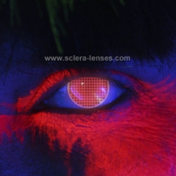 Glow Red Screen Contact Lenses (1 pair)