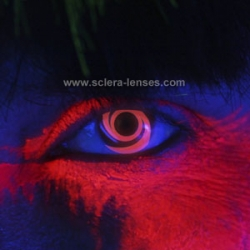 Glow Red Swirl Contact Lenses (1 pair)