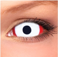 White Vampire Sclera Contact Lenses (1 pair)
