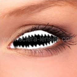 Jaws White Sclera Contact Lenses (1 pair)