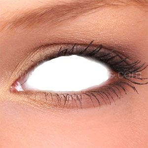buy white zombie sclera contact lenses from sclera lenses