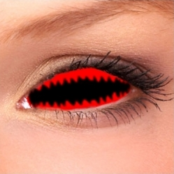 Jaws Red Sclera Contact Lenses (1 pair)