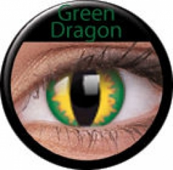 Green Dragon Prescription Contact Lenses (1 pcs)