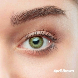 April Brown Colored Contact Lenses (1 pair)
