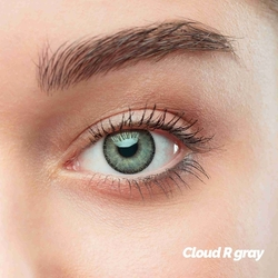 Cloud R Gray Colored Contact Lenses (1 pair)