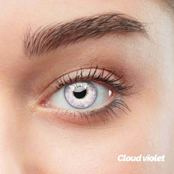 Cloud Violet Colored Contact Lenses (1 pair)
