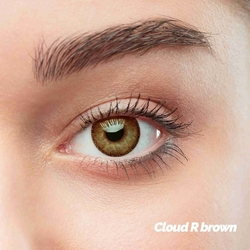 Cloud R Brown Colored Contact Lenses (1 pair)