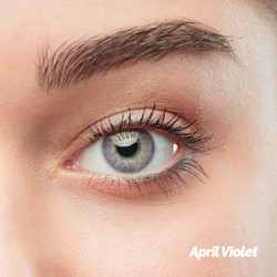 April Violet Colored Contact Lenses (1 pair)