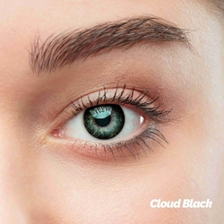 Cloud Black Colored Contact Lenses (1 pair)