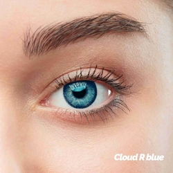 Cloud R Blue Colored Contact Lenses (1 pair)