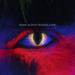 Glow Red Dragon Contact Lenses (1 pair)