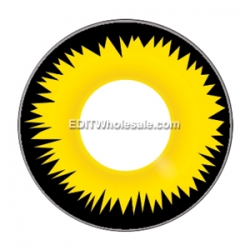 Yellow Werewolf Contact Lenses (1 pair) + Lens Case