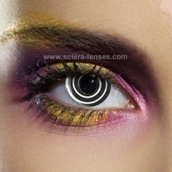 Black Spiral Contact Lenses (1 pair)