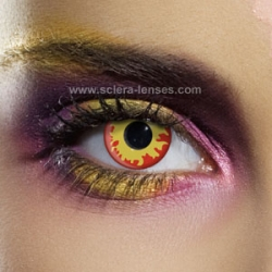 Crazy Halloween Contacts halloween crazy colors Flame Contact Lenses 1 Pair