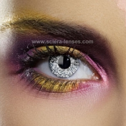 Glimmer Silver Contact Lenses (1 pair)