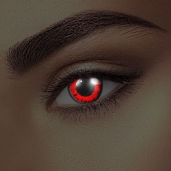 Glow Dolly Red UV Contact Lenses (1 pair)
