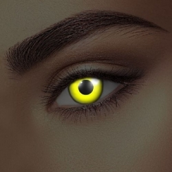 Glow Yellow UV Contact Lenses (1 pair)