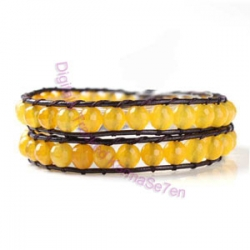 Two Row Wrap Bracelet - Lemon Sherbert