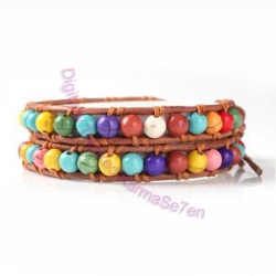 Two Row Wrap Bracelet - Hawaii