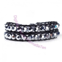 Two Row Wrap Bracelet - Disco Diva