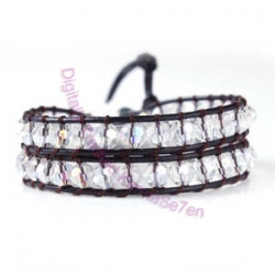 Two Row Wrap Bracelet - Ice White