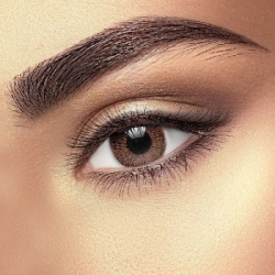 One Tone Chocolate Brown Contact Lenses (1 pair)