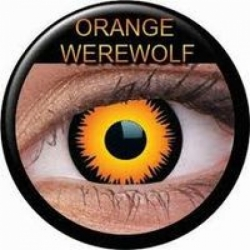 Orange Werewolf Prescription Contact Lenses (1 pcs)