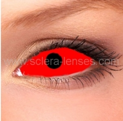Red Sclera Contacts