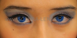 Royal Blue Contact Lenses (1 pair) + Lens Case