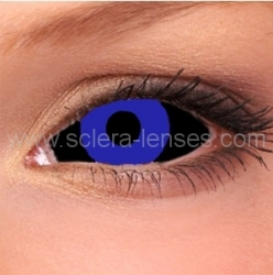 Negative Blue Sclera Contact Lenses (1 pair)