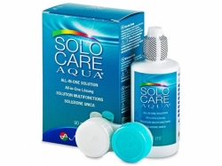 Multipurpose Contact Lens Solution Solocare Aqua (3 fl. oz.) + Antibacterial Lens Case