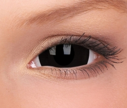 Black Mini Sclera Contact Lenses (1 pair)
