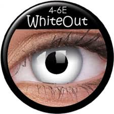 White Out Prescription Contact Lenses (1 pcs)
