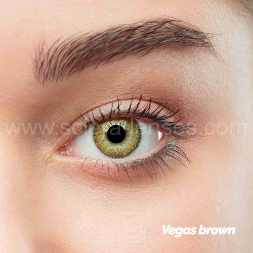Vegas Brown Colored Contact Lenses (1 pair)