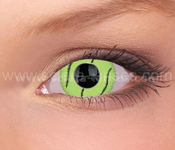 Green Stitch Mini Sclera Contact Lenses (1 pair)