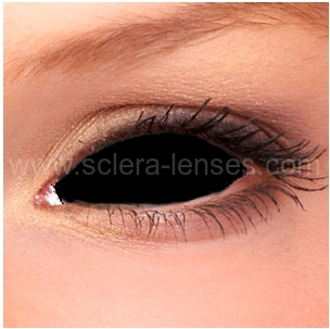 Black Sclera Contact Lenses (1 pair)