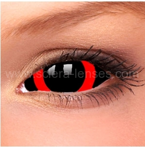 Red Circle Sclera Contact Lenses (1 pair)
