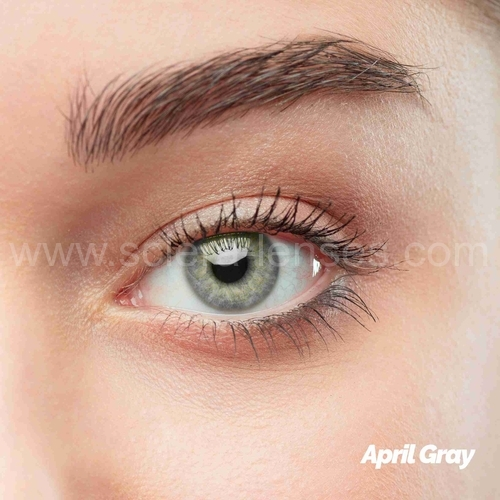 April Gray Colored Contact Lenses (1 pair)