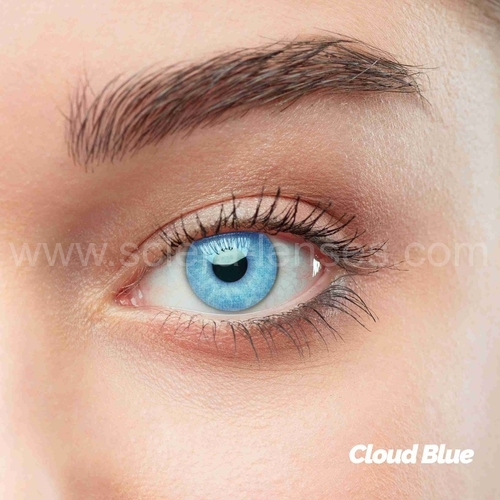 Cloud Blue Colored Contact Lenses (1 pair)