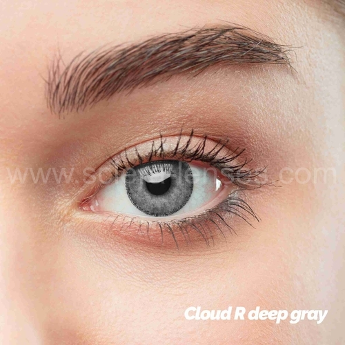 Cloud R Deep Gray Colored Contact Lenses (1 pair)