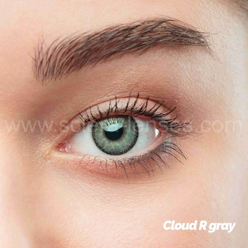 Cloud R Gray Prescription Colored Lenses (1 pc)