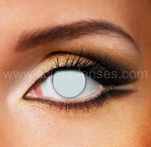 White Blind Contact Lenses (1 pair)