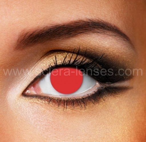 Red Blind Contact Lenses (1 pair)