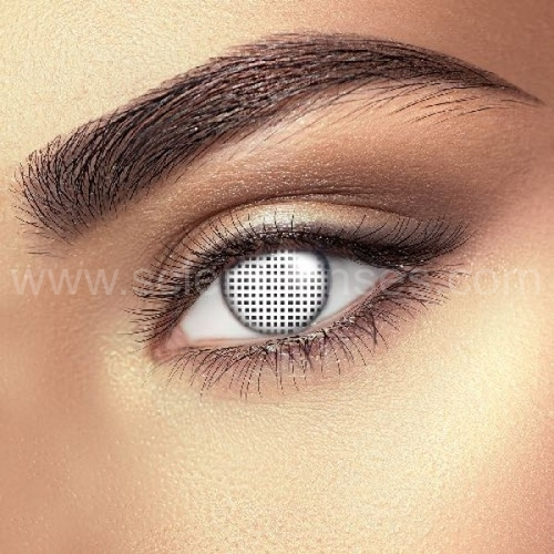 White Mesh Prescription Contact Lenses (1 pc)