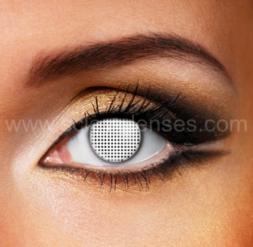 White Mesh Contact Lenses (1 pair)
