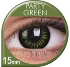 Big Eyes Party Green Prescription Colored Lenses (1 pcs)