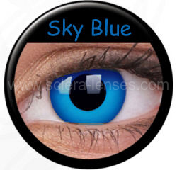 Sky Blue Prescription Contact Lenses (1 pc)