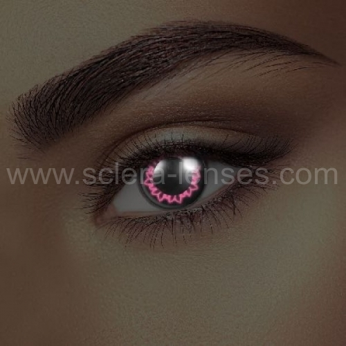 Glow Pink Butterfly UV Contact Lenses (1 pair)