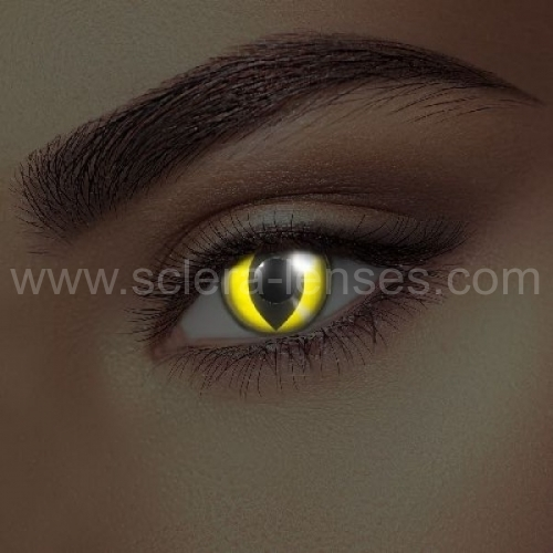 Glow Yellow Cat Contact Lenses (1 pair)